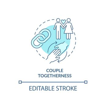 Couple togetherness in all life aspects concept icon