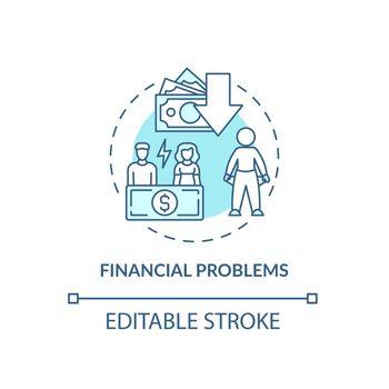 Budgeting problem concept icon