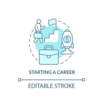 Career-ladder concept icon