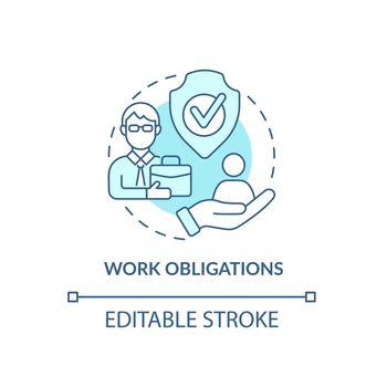 Work tasks concept icon