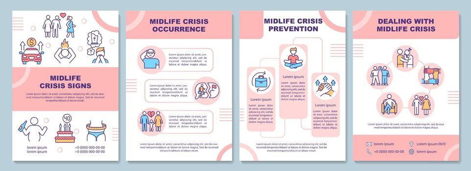 Midlife crisis signs brochure template