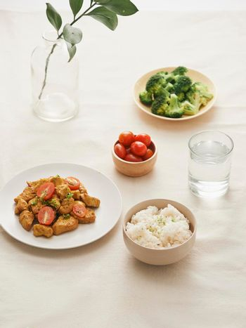 fried chicken rice - asian food style