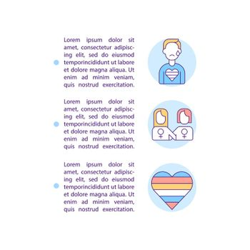 Vulnerable group of people concept line icons with text