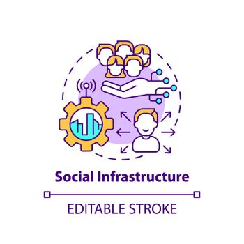 Social infrastructure concept icon