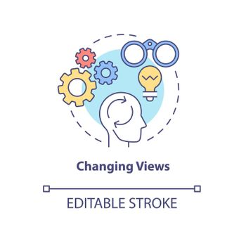 Changing views concept icon