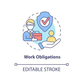 Work obligations concept icon