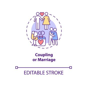 Coupling or marriage concept icon