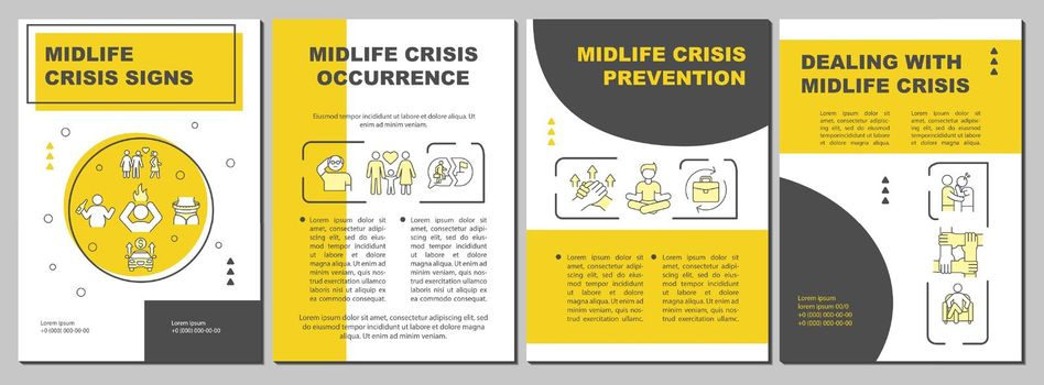 Midlife crisis prevention brochure template