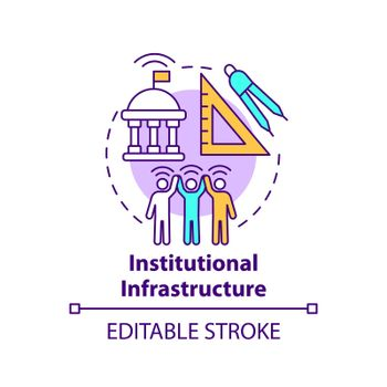 Institutional infrastructure concept icon