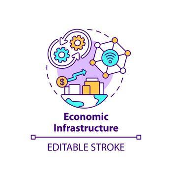 Economic infrastructure concept icon
