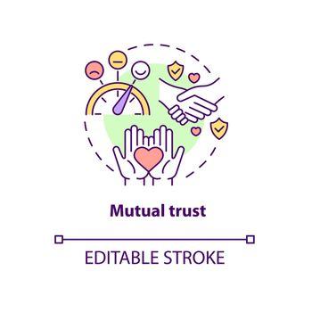 Mutual trust concept icon