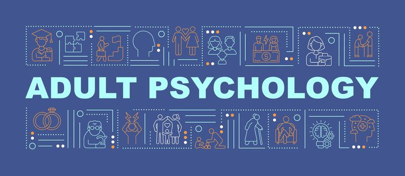 Adult psychology issue word concepts banner