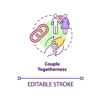 Couple togetherness concept icon