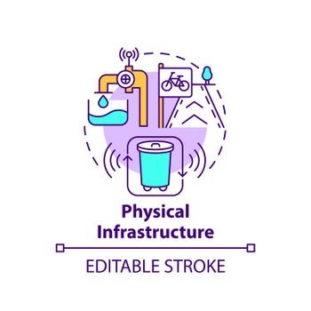 Physical infrastructure concept icon