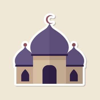 Mosque Islamic place of worship vector