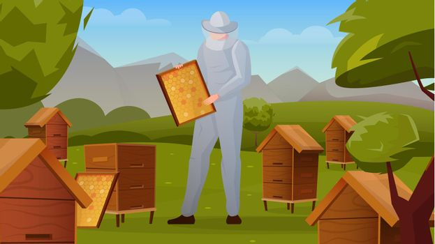 Apiary Horizontal Flat Composition