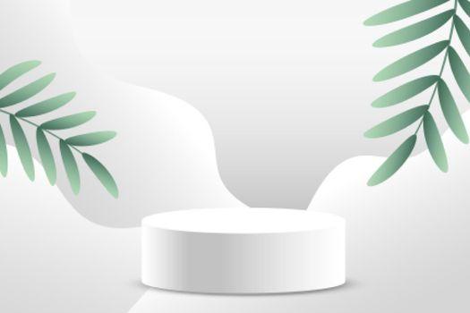 minimal white podium product display background