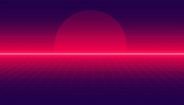 retro gradient background in linear style