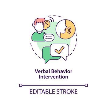 Verbal behavior intervention concept icon