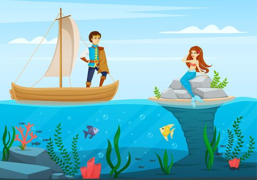 Fairy Tale Characters Cartoon Composition