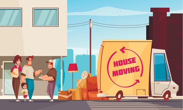 House Moving Outdoor Composition