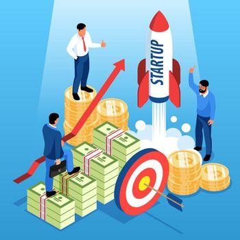 Investment Isometric Illustration