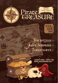 Pirate Treasure Poster