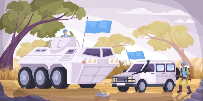 Peacekeepers Transport Flat Composition
