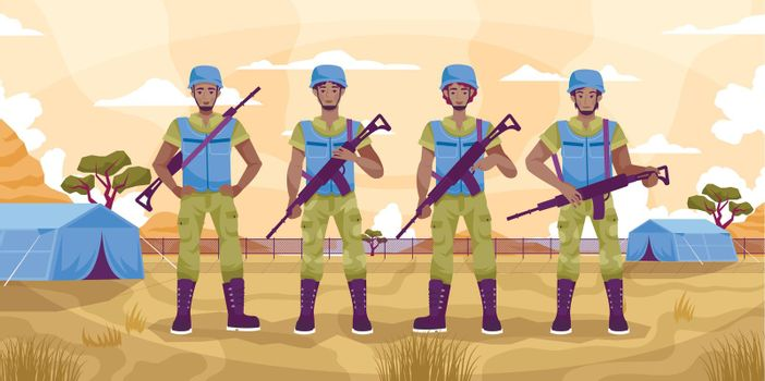Peacekeepers Guard Flat Concept