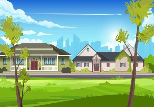 Suburban House Illustration