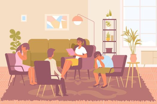 Group Psychotherapy Illustration
