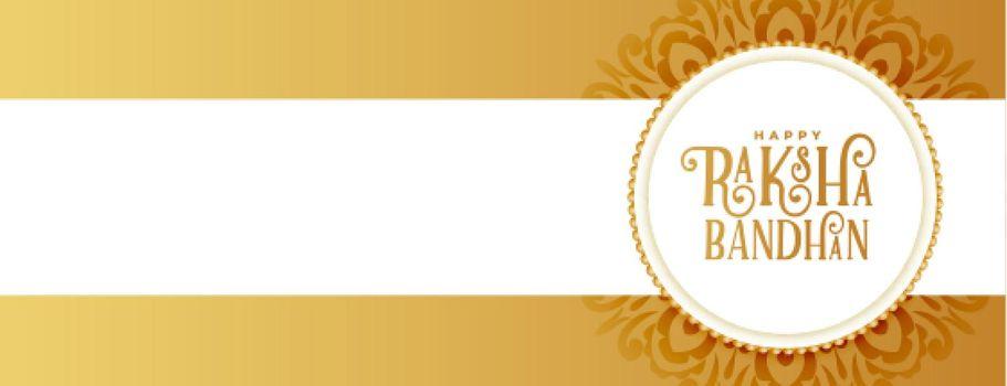 golden raksha bandhan ethnic banner design