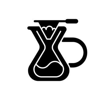 Pour over coffee maker black glyph icon