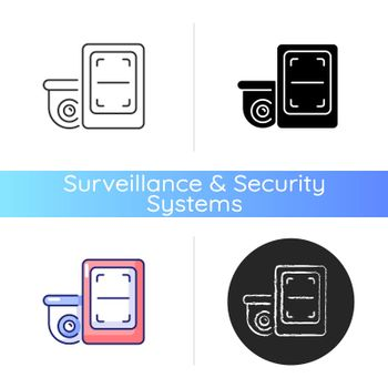 Remote monitoring with surveillance system icon