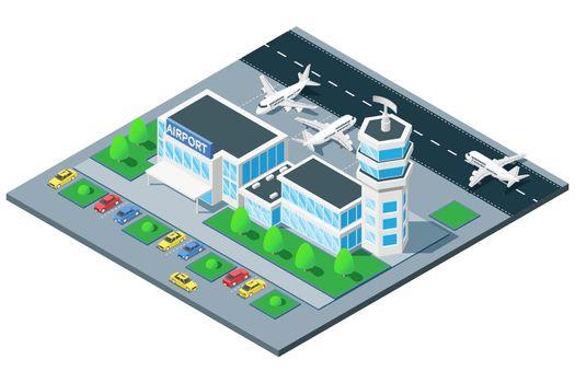 Airport Exterior Isometric View
