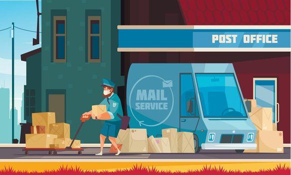 Post Office Outdoor Cartoon