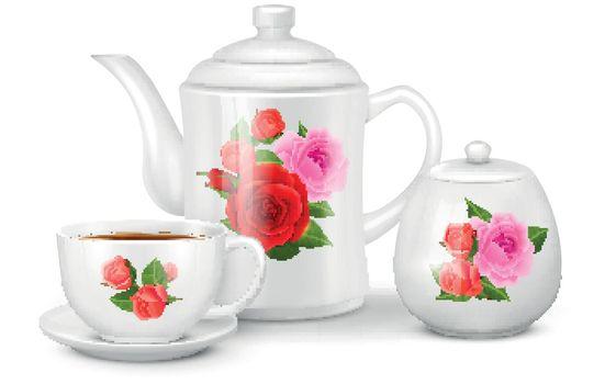 Realistic Tea Set