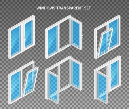 Plastic Windows Transparent Set