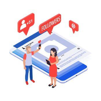 Social Media Isometric Icon