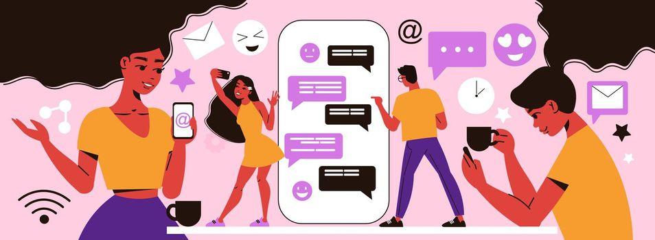 Social Network Communication Composition