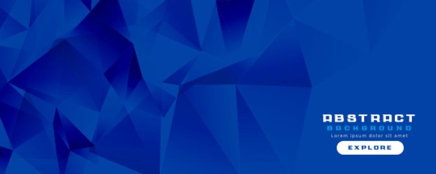 blue low poly wide banner design