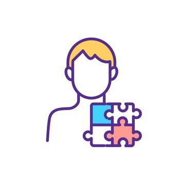 Autism spectrum disorder RGB color icon