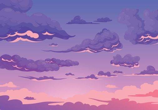 Evening Cloudy Sky Background
