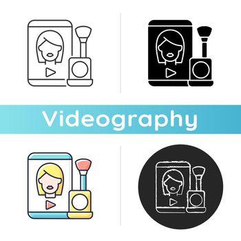 Make up tutorial videos icon