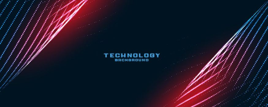 stylish technology lines particles background