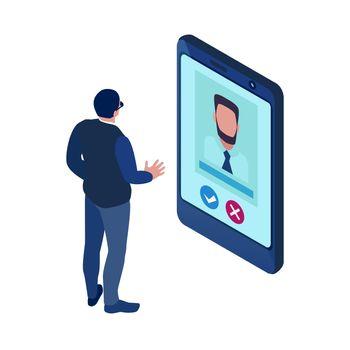 Isometric Recruitment Icon