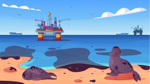 Ocean Pollution Flat Poster