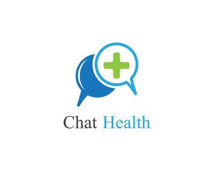 Chat health logo illustration