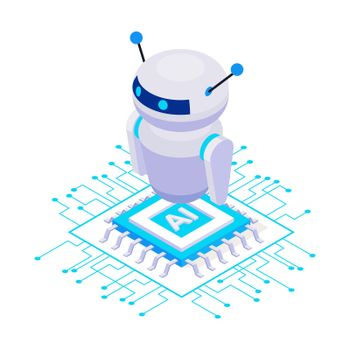 Robot Isometric Icon