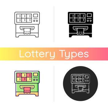 Lottery ticket vending machine icon